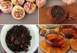 Mandarine de Pu Er Bio Pu Erh Cuit Shu Parfumé