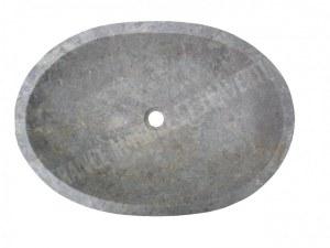 Marbre Silver Shadow Vasque Ovale 65x45 cm En Stock