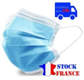 Masque chirurgical Non médical, 3 plis bleu, CE, norme EN149