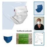 Masque 3 plis 100% polypropylène