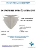 Masque tissu lavable confort