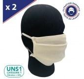 Lot de Masques UNS1 50 Lavages 3 pli