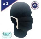 Masques UNS1 50 Lavages 3 pli - Noir
