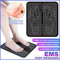 Masseur de pieds électrique EMS, massage des pieds pour soulager les muscles sanguins...