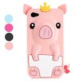 Etui de Protection Style Cochon, En Silicone, pour iPhone 4/4S - Couleurs Assorties