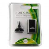 Batterie USB Rechargeable pour Xbox 360 Slim - Noire