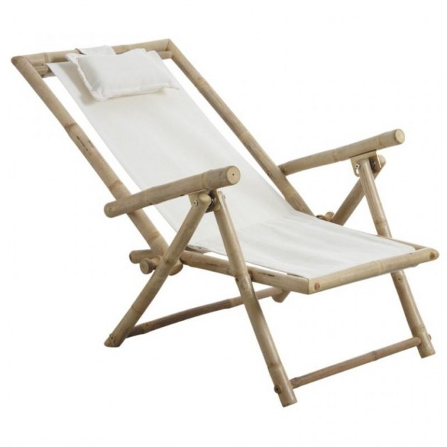 6 chaises pliantes relax bambou toile 100 coton destockage grossiste. Black Bedroom Furniture Sets. Home Design Ideas