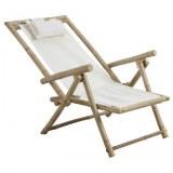 6 chaises pliantes relax bambou & toile 100% coton !