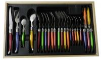 Menagère 24 pcs couleurs Laguiole