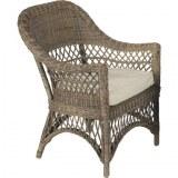 2 fauteuils en rotin gris 72x72x96