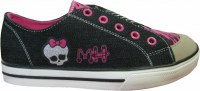 Baskets enfants filles en toile - Licence Monster High