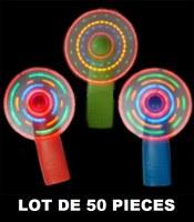 Lot 50 ventilateurs de poche avec effets lumineux led