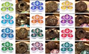 Grossite mini tuo cha thé pu er aromatisé différents parfums