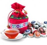 Grossite assortiment 10 parfums mini tuo cha thé pu er aromatisé conditionnés en sac ethnique