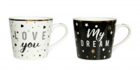 COFFRET 2 TASSES PORCELAINE LOVE