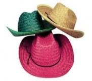 """Chapeau de paille """"Western"""" taille unique coloris assortis"""