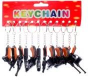 Porte-clés Gun 6,5cm modèles assortis à partir de 0,82€ HT