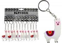 Porte-clés lama PVC 6cm blanc à partir de 0,37€ HT