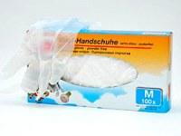Gant vinyle poudré transparent boite de 100 tailles assorties à partir de 4,83€ HT