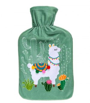 Bouillotte à eau 2L motif lama coloris assortis à partir de 2,93€ HT