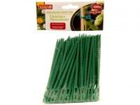 Set de 100 liens de plastique vert 13cm