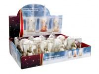 Bougie de Noël Ø 5,5cm forme ange coloris assortis à partir de 1,09€ HT