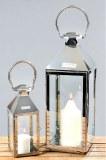 Lanterne métal chromé x 2 Jason 30cm et 51cm à partir de 37,69€ HT