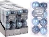 Lot de 8 boules de Noël Ø 5cm bleu arctique à partir de 2,99€ HT