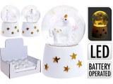 Boule de neige LED licorne Ø 6,5cm modèles assortis à partir de 2,63€ HT