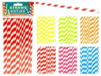 Set de 16 pailles carton biodégradable 19,5cm coloris assortis à partir de 0,43€ HT
