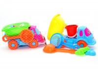 Set camion jouets de sable 6 pièces 28cm coloris assortis à partir de 2,87€ HT