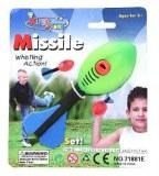 Missile roquette siffleur à lancer 16cm vert/bleu à partir de 1,67€ HT