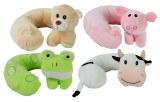 Coussin relaxant de nuque polyester 25cm animaux assortis à partir de 4,37€ HT