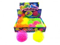 Balle Fluffy LED Ø 10cm coloris assortis