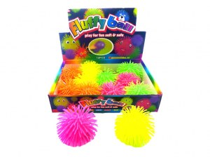 Balle Fluffy LED Ø 10cm coloris assortis