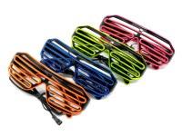 Lunettes lumineuses LED EL Wire coloris assortis à partir de 3,79€ HT