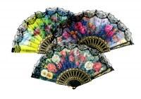 Eventail flamenco 42cm modèles assortis à partir de 0,60€ HT