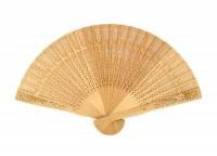 Eventail bois de santal 33cm modèles assortis à partir de 0,71€ HT