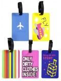 Etiquette bagage PVC x 2 modèles assortis 10,5cm à partir de 2€27 HT