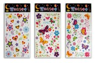 "Planche de stickers tattoo ""Butterfly"" modèles assortis"