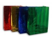 Sac cadeau aspect métallisé 32 x 26cm coloris assortis