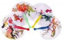 Eventail chinois papier 25cm coloris assortis à partir de 0,23€ HT