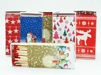 Box de 50 allumettes Christmas 10cm à partir de 1,09€ HT