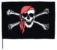 """Drapeau pirate """"Jolly Roger"""" série III 90 x 60cm avec hampe à partir de 2,09€ HT"""