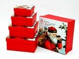 Set de 5 boîtes cadeaux en carton Merry Christmas à partir de 2,87€ HT