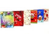 """Sac cadeau """"Merry Christmas"""" 24 x 18cm modèles assortis à partir de 0,58€ HT"""