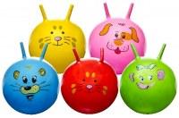 Ballon sauteur visage animal Ø 46cm coloris assortis
