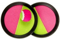 Jeu catch ball Ø 16cm jaune/rose