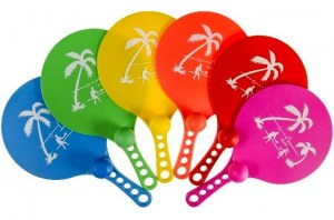 "Set raquettes PVC ""Beach Ball"" 33cm"