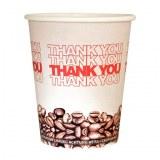 """Gobelet café carton x 50 """"Thank You"""" 20cl blanc à partir de 2€05 HT"""